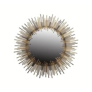 Round Gold Iron Mirror