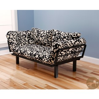 Christopher Knight Home Multi-Flex Black Metal Daybed/Lounger with Black/ Cream Mattress and Pilllows Set
