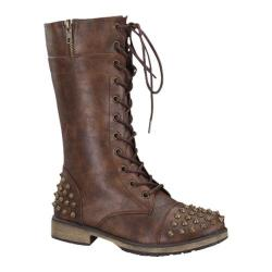 Women's Wild Diva Alisia-07 Brown Faux Leather