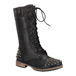 Women's Wild Diva Alisia-07 Black Faux Leather