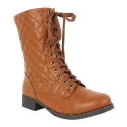 Women's Wild Diva Fighter-16 Cognac Faux Leather