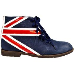 Women's Wild Diva Flag-1 Blue Faux Nubuck