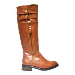 Women's Wild Diva Moto-1 Chestnut Faux Leather