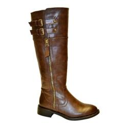 Women's Wild Diva Moto-1 Brown Faux Leather