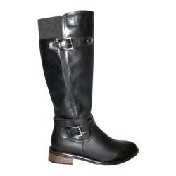 Women's Wild Diva Moto-4 Black Faux Leather