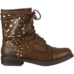Women's Wild Diva Seattle-18 Taupe Faux Leather