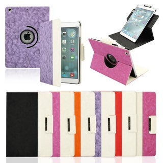 Gearonic Rotating Microfiber and PC Case Smart Cover for Apple iPad Air