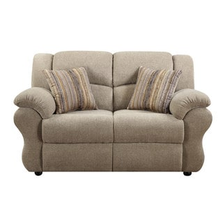 Loda Grey Loveseat with Accent Pillows