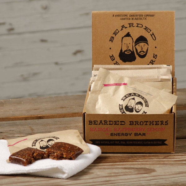 Bearded Brothers Radical Raspberry Lemon Energy Bars (Pack of 12)