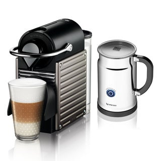 Nespresso C60 Pixie Electric Titanium Espresso Maker with Aeroccino (Refurbished)