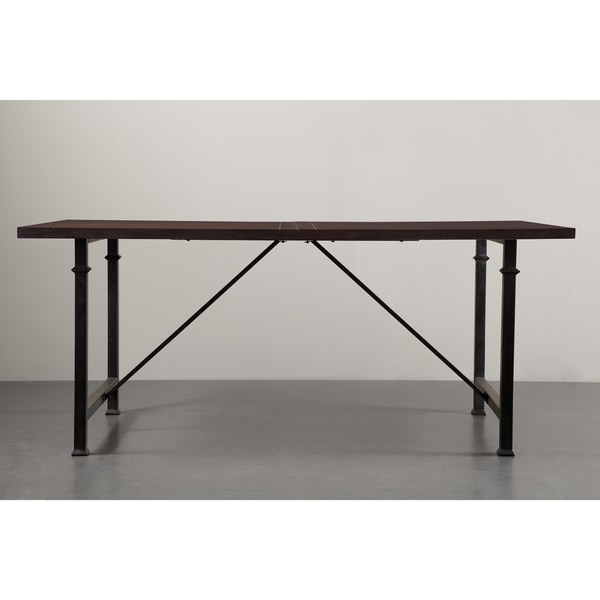 Renate Coffee Metal Wood Dining Table 15950694
