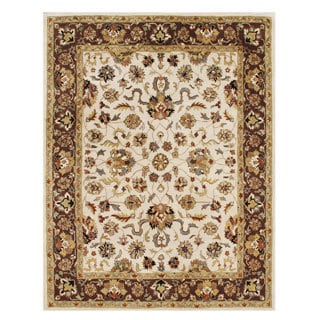 Alliyah Handmade Vanilla New Zealand Blend Wool Rug(10' x 14')