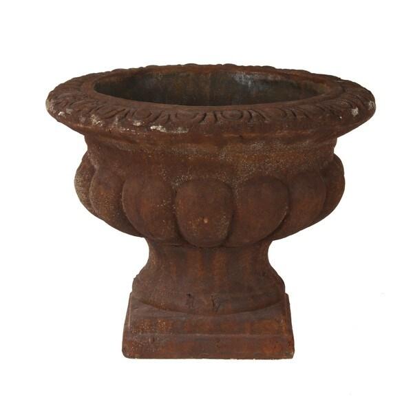 Large Rust Ceramic Vase
