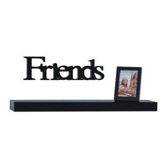 Melancco 3-piece Black Shelf Set