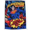 Superman Twin-size Microplush Sherpa Throw Blanket