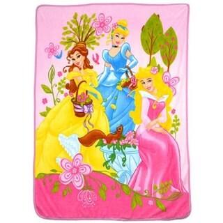 Disney Princesses Microplush Twin-size Sherpa Throw Blanket