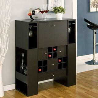 Furniture of America Vic Multi-Shelf Cappuccino Modern Dining Buffet Sideboard