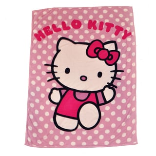 Hello Kitty Microplush Sherpa Twin-size Throw Blanket