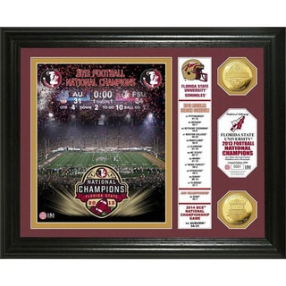 Florida State 2014 BCS National Champions Banner Gold Coin Photo Mint