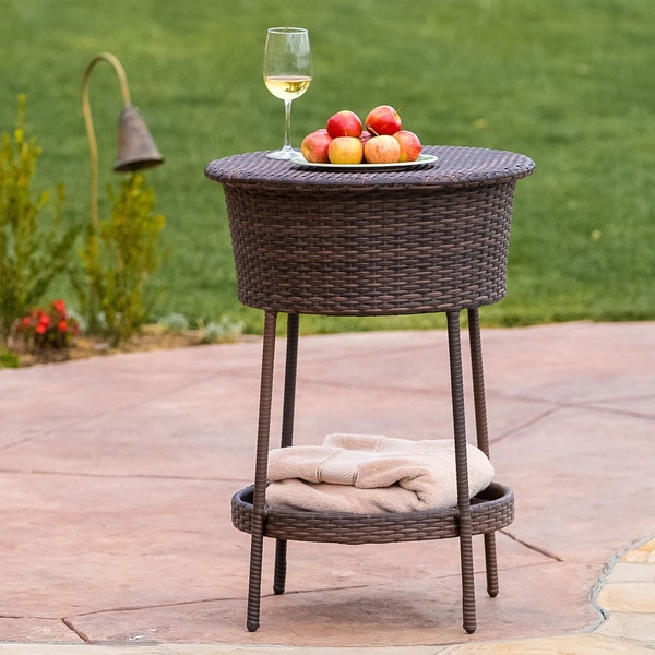 Alondra Multi-Brown Wicker Ice Bucket