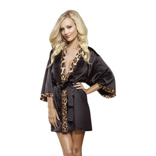 Dream Girl Women's 'Wild Passion' Short Kimono Robe