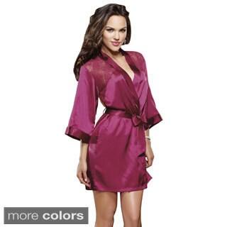 Dream Girl Women's 'Sensual Elegance' Charmeuse Robe