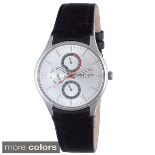Johan Eric Men's Streur Leather Watch