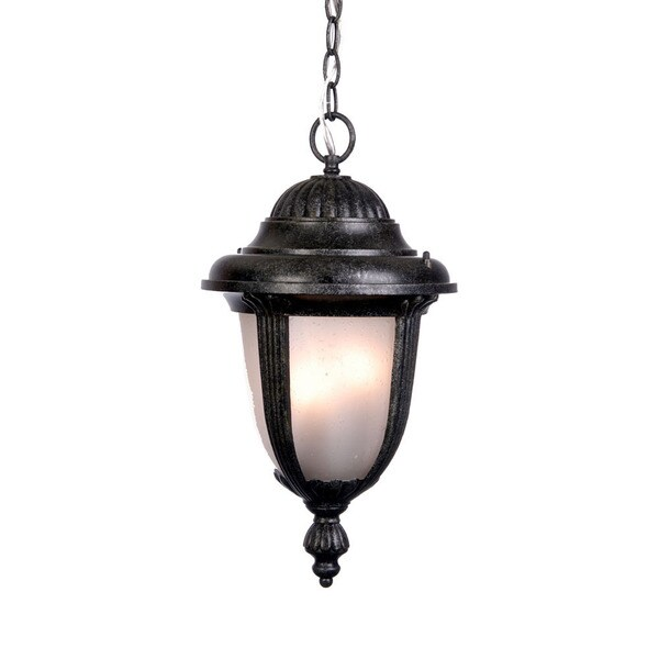 Monterey Collection 1 light Outdoor Hanging Lantern Stone