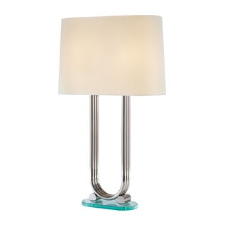 Dorian 2-light Polished Nickel Finsih Table Lamp