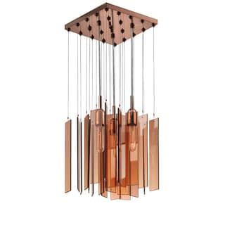 Chimes 3-light Polished Bronze Square Pendant