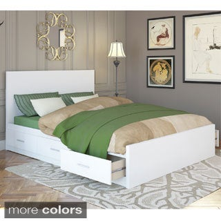 Sonax 2-piece Queen Storage Bed Set and Flat Headboard