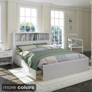Sonax 3-piece Queen Storage Bed Set with Bookcase Headboard and Nightstand