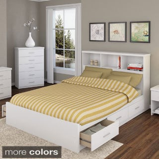 Sonax 2-piece Queen Storage Bed Set with Bookcase Headboard