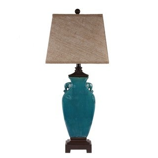 1-light Blue Ceramic Table Lamp