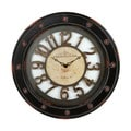 Vintage Black Metal Wall Clock