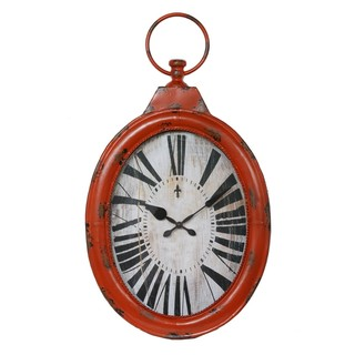 Antique Orange Iron Clock