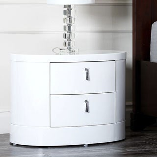Abbyson Living 'Zen' High-gloss White Nightstand