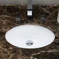 20 x 15-inch White Oval Undermount Ceramic Bathroom Sink