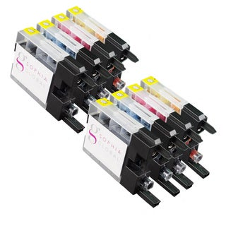 Sophia Global Compatible Ink Cartridge Replacement for Brother LC75 (2 Black, 2 Cyan, 2 Magenta, and 2 Yellow)