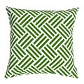 Parquet Green Down-filled Decorative Accent Pillow