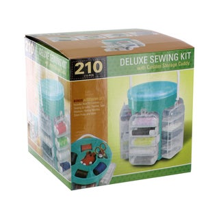 Deluxe Sewing Kit/ Custom Storage Caddy (210 Pieces)