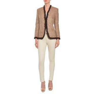 Escada Women's Brown Poppy Tweed Blazer