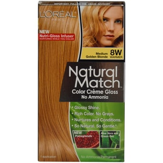 L'Oreal Paris Natural Match 8W Medium Golden Blonde Hair Color