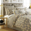Garden Path Reversible Cotton Percale 3-piece Duvet Cover Set