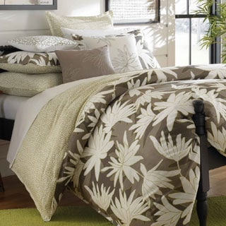City Scene Ginger Lily Reversible Cotton Percale 3-piece Duvet Cover Set