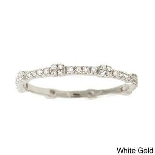 Beverly Hills Charms 14k Gold 1/5ct TDW Square Stackable Diamond Band Ring (H-I, SI2-I1)