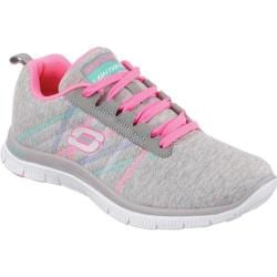 Women's Skechers Flex Appeal Miracle Worker Light Gray/Pink