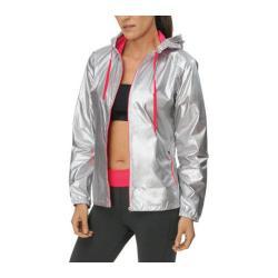 Women's Fila Platinum Silver Hoody Silver/Diva Pink