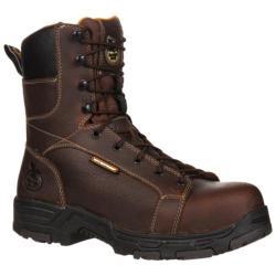 Men's Georgia Boot GBOT063 8in Steel Toe Diamond Trax Brown Full Grain Leather