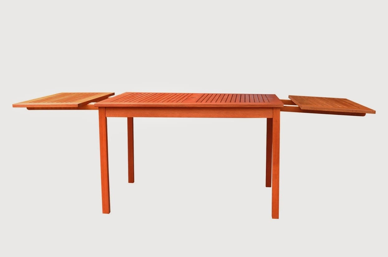 Eco-friendly 82-inch Outdoor Eucalyptus Rectangular Dining Table